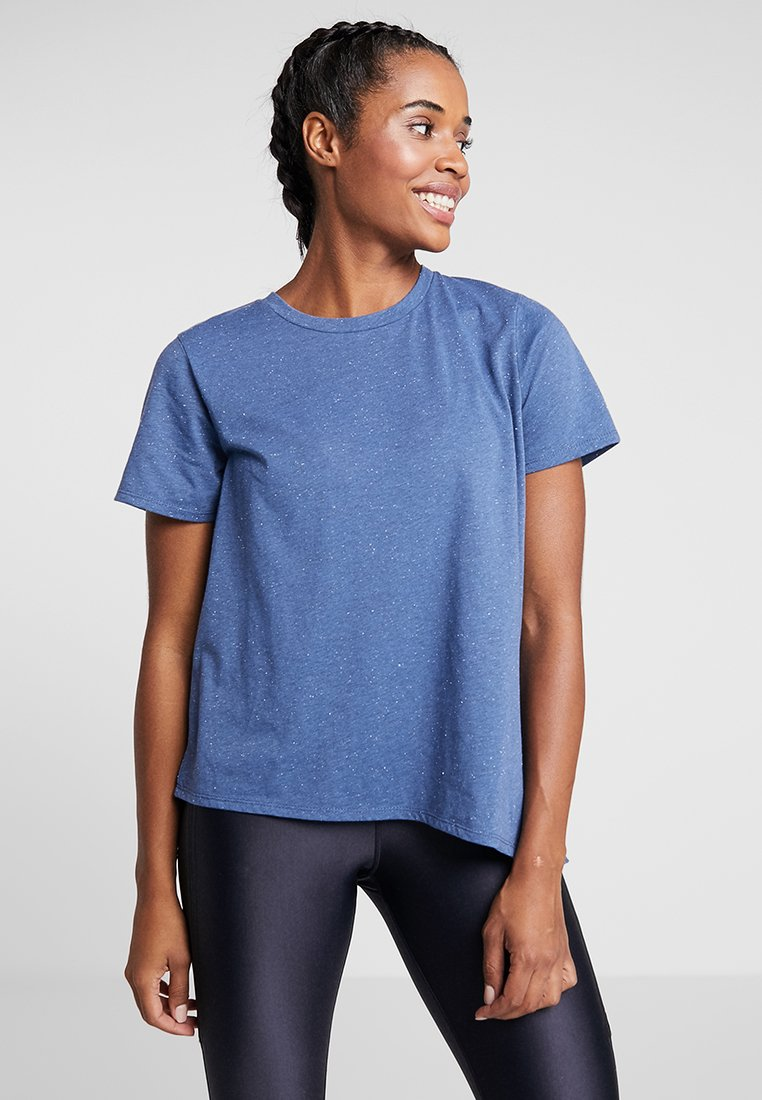 Cotton On Body - SIDE TIE - Print T-shirt - steel blue/black speckle