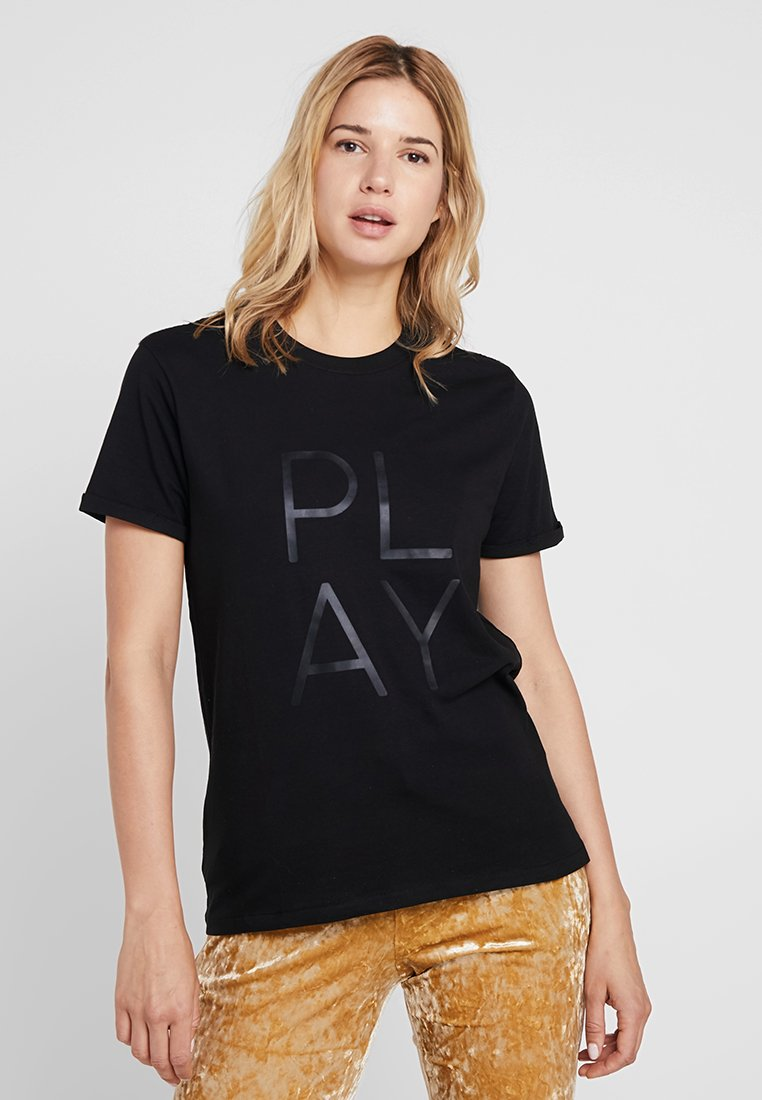 Cotton On Body - PLACEMENT PRINT - Print T-shirt - black/jungle marle