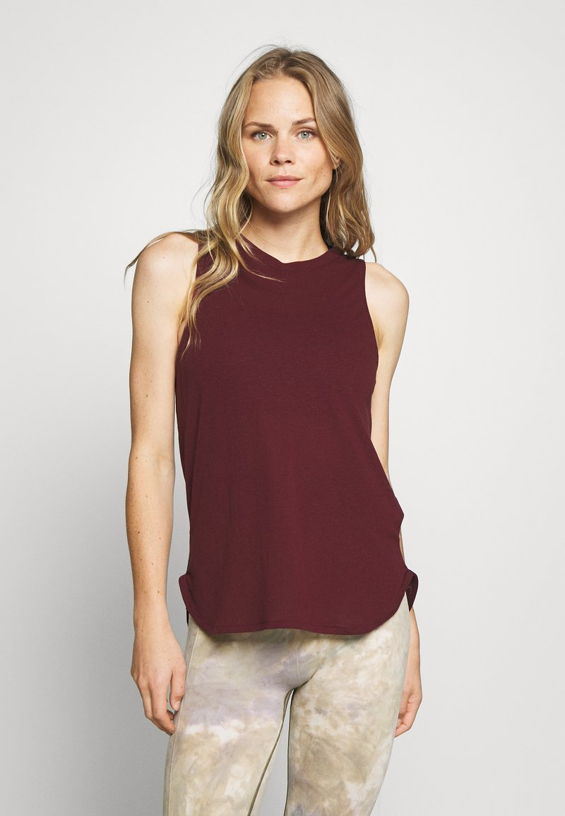 Cotton On Body - ACTIVE CURVE HEM TANK - Top - mulberry