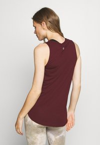 Cotton On Body - ACTIVE CURVE HEM TANK - Top - mulberry - 2