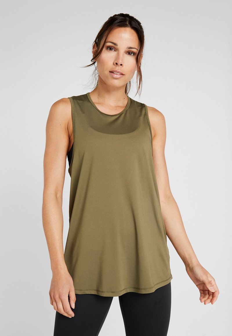 Cotton On Body - OPEN BACK STRAPPY TANK - Toppe - olive branch