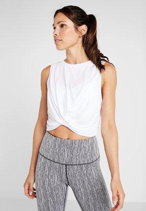 CROP TWIST FRONT TANK - Top - white