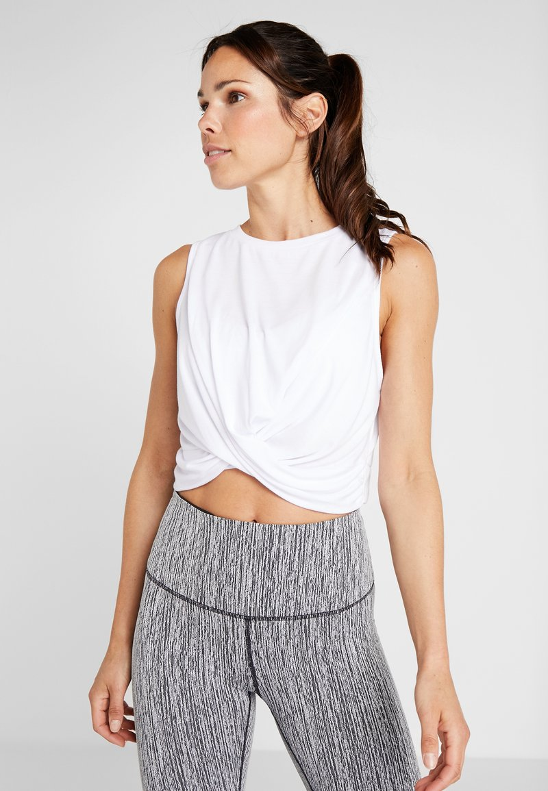 Cotton On Body - CROP TWIST FRONT TANK - Toppi - white