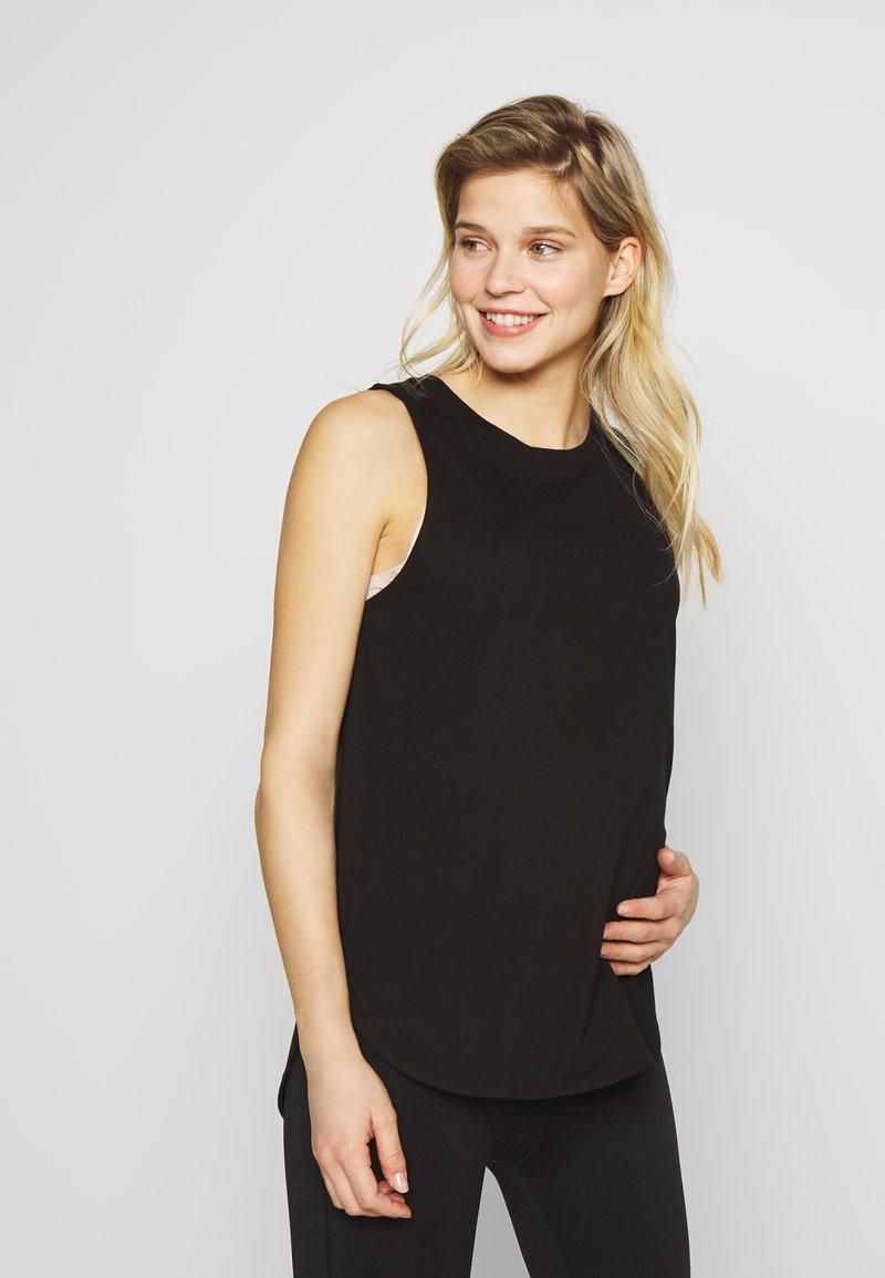 Cotton On Body - MATERNITY ACTIVE CURVE HEM TANK - Top - black