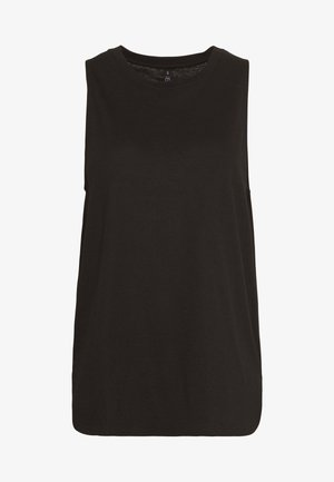 MATERNITY ACTIVE CURVE HEM TANK - Top - black