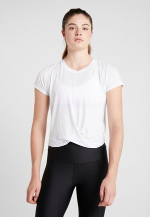 TWIST FRONT ACTIVE - T-shirts med print - white