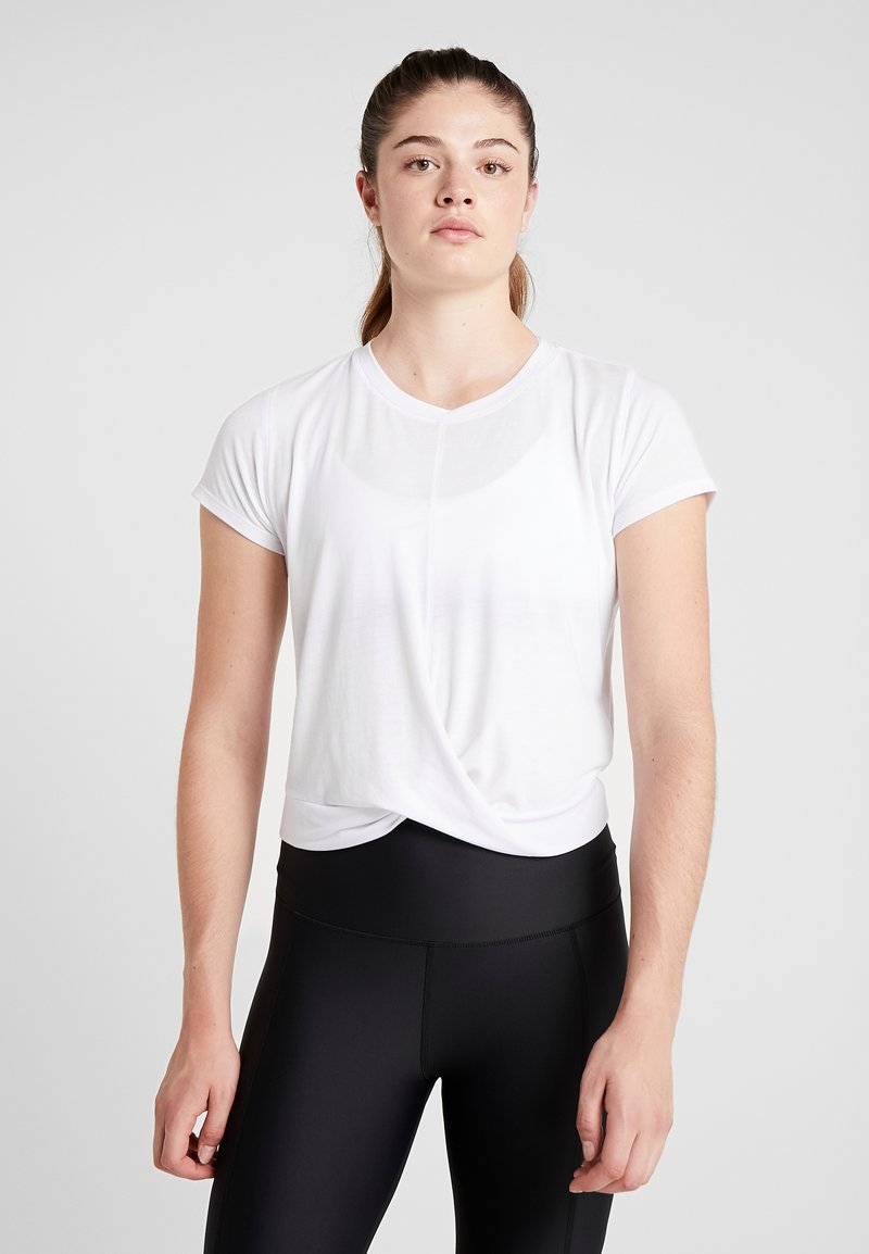 Cotton On Body - TWIST FRONT ACTIVE - T-shirts print - white