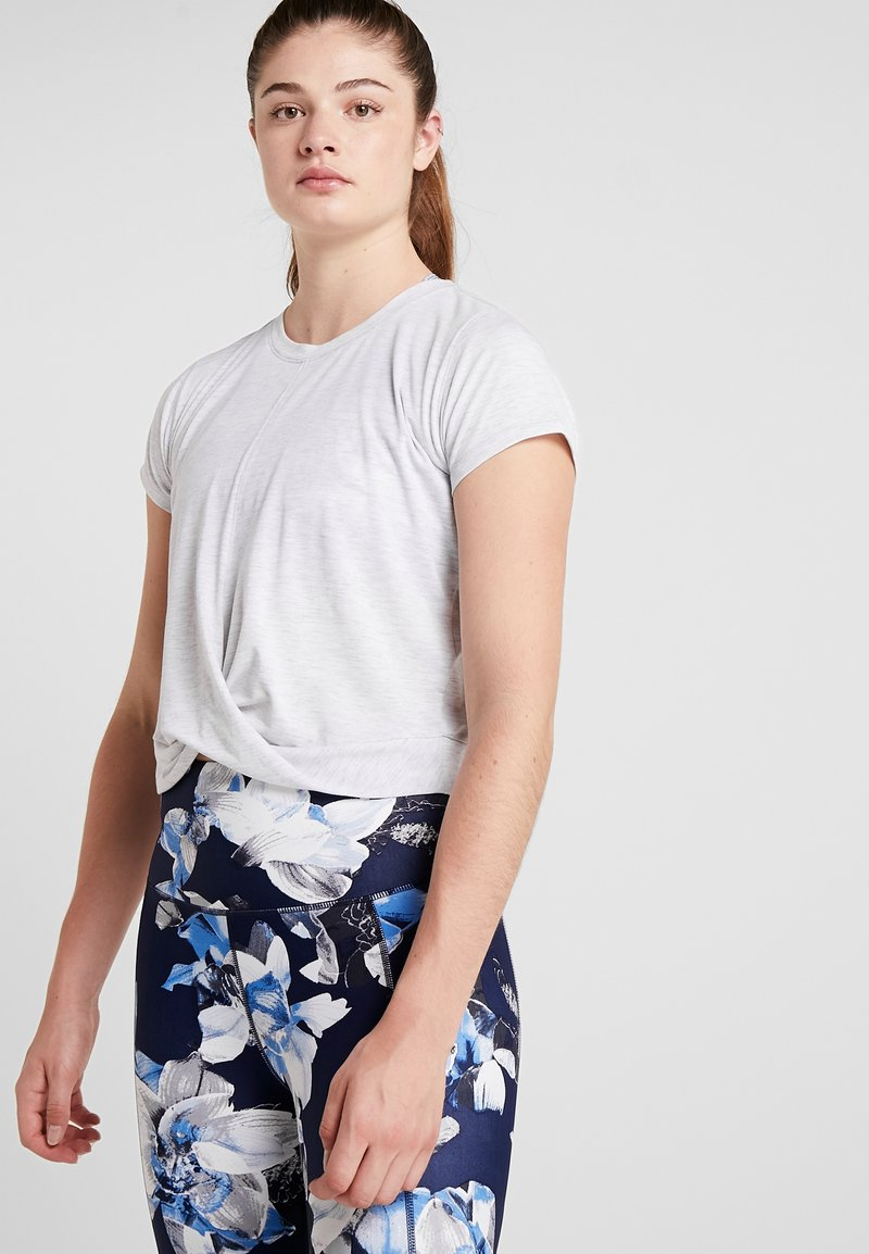 Cotton On Body - TWIST FRONT ACTIVE - Printtipaita - grey marle