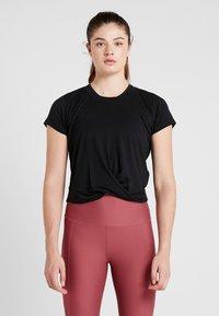 Cotton On Body - TWIST FRONT ACTIVE - T-shirt print - black - 0