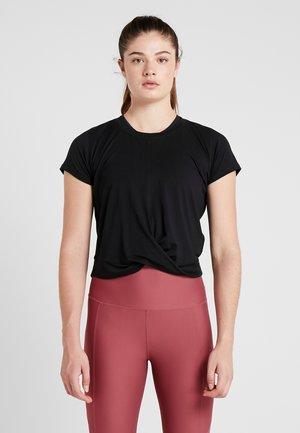 TWIST FRONT ACTIVE - T-shirt con stampa - black