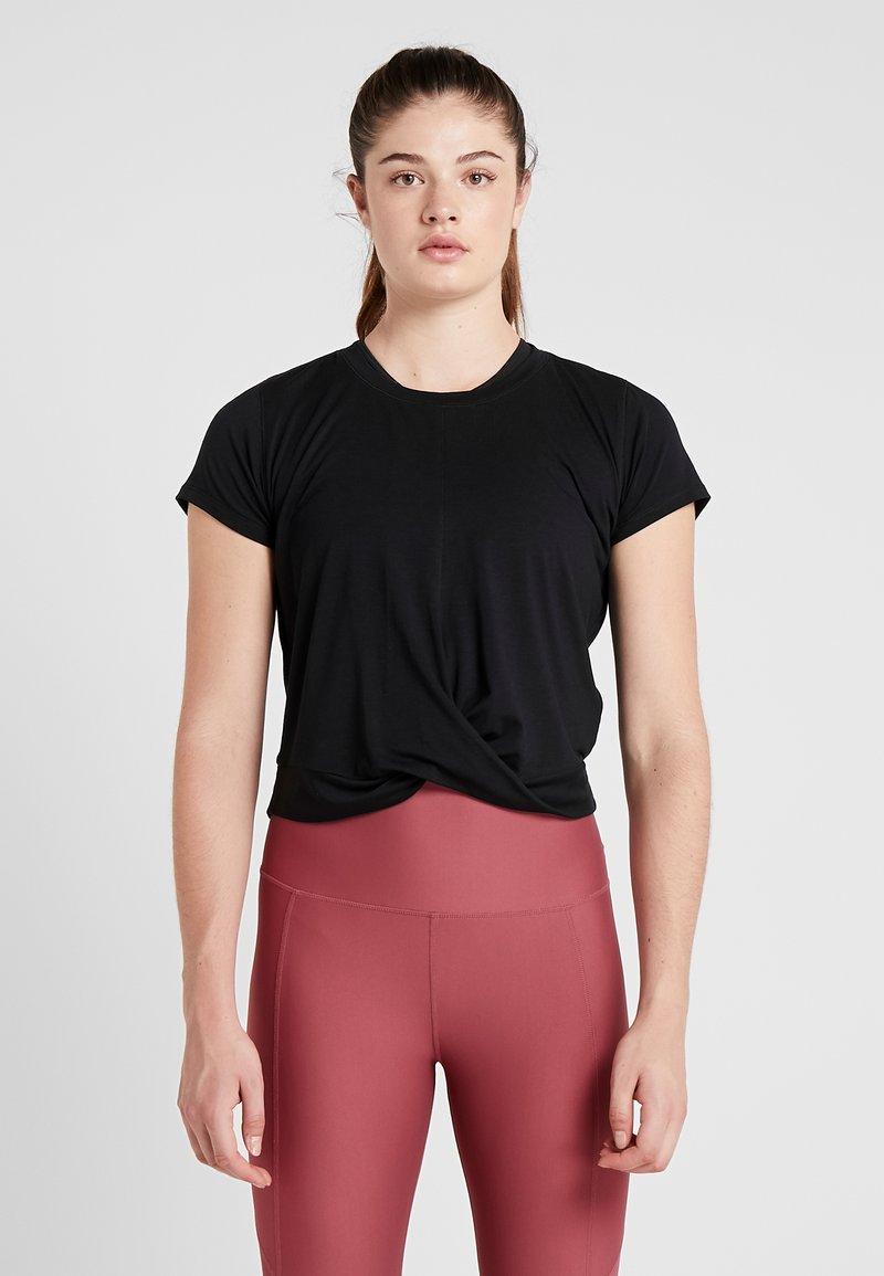 Cotton On Body - TWIST FRONT ACTIVE - T-shirt print - black