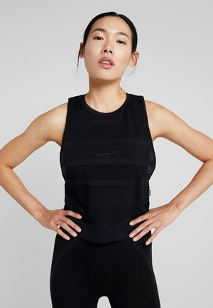 SEAMFREE MUSCLE TANK - Top - black