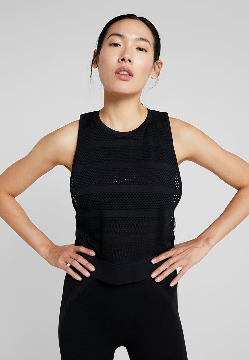 Cotton On Body - SEAMFREE MUSCLE TANK - Topper - black
