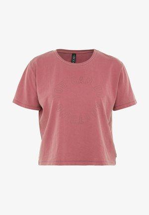 ACTIVE PLACEMENT - T-shirt imprimé - rose sangria
