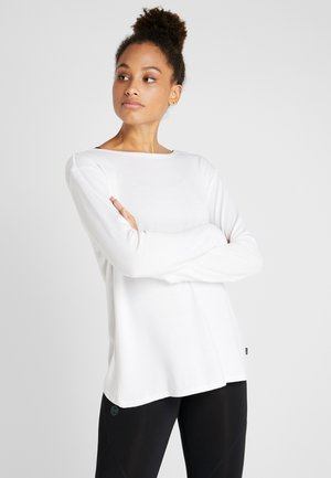 BACK TWIST LONG SLEEVE - Stickad tröja - white