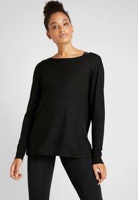 Cotton On Body - BACK TWIST LONG SLEEVE - Jumper - black - 0