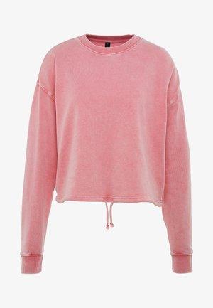 TIE HEM CREW  - Sweatshirt - cameo pink wash