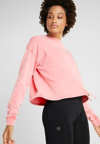 Cotton On Body - TIE HEM CREW  - Sweatshirt - cameo pink wash - 0