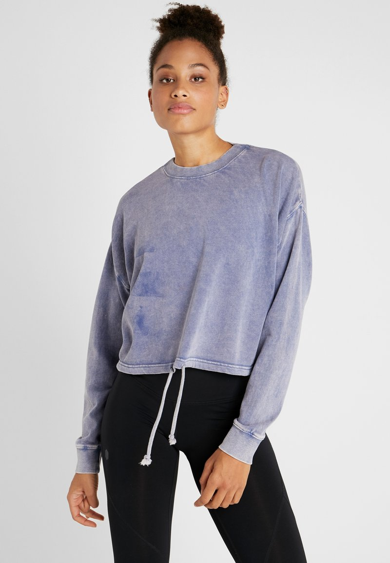 Cotton On Body - TIE HEM CREW  - Sweatshirt - ultra marine wash
