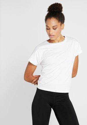 DROP SLEEVE TIE BACK - Camiseta estampada - white