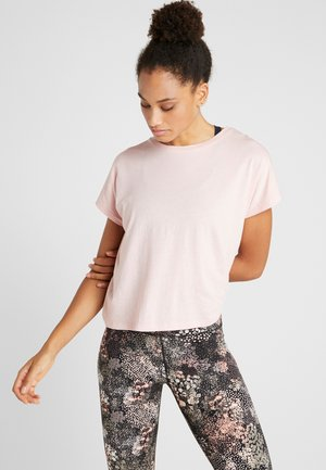 DROP SLEEVE TIE BACK - T-Shirt print - soft cameo pink marle