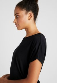 Cotton On Body - DROP SLEEVE TIE BACK - T-shirt con stampa - black - 4