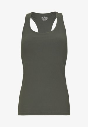 ACTIVE FITTED TANK - Top - khaki