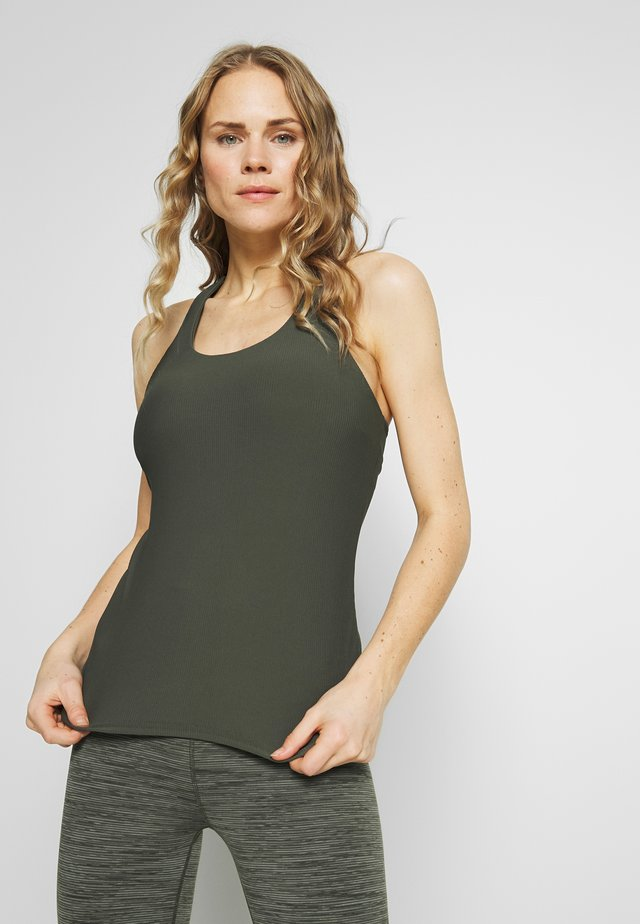 ACTIVE FITTED TANK - Toppi - khaki