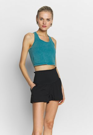 WASHED BACK VESTLETTE - Linne - mineral teal