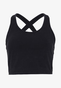 Cotton On Body - WASHED BACK VESTLETTE - Top - black - 4