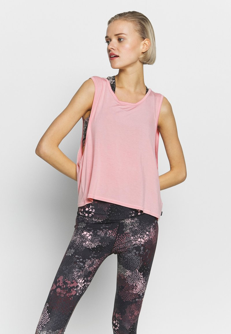Cotton On Body - CROPPED KEY HOLE WASHED TANK - Top - rose