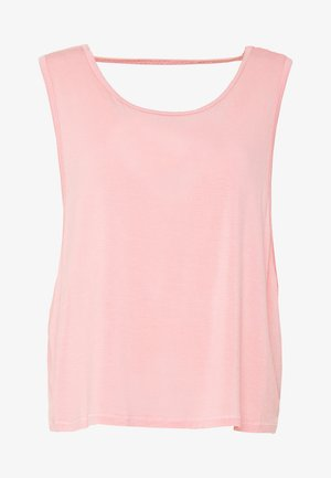 CROPPED KEY HOLE WASHED TANK - Top - rose