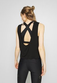 Cotton On Body - CROPPED KEY HOLE WASHED TANK - Top - black - 2