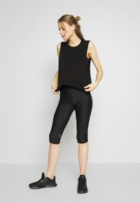 Cotton On Body - CROPPED KEY HOLE WASHED TANK - Top - black - 1