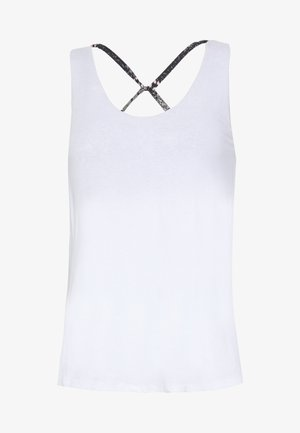STRAPPY 2-IN-1 TANK - Top - white/spray ditsy