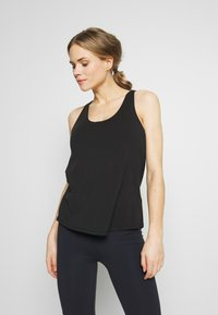 Cotton On Body - STRAPPY 2-IN-1 TANK - Top - black - 0