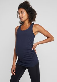 Cotton On Body - MATERNITY FITTED TANK - Top - navy - 0