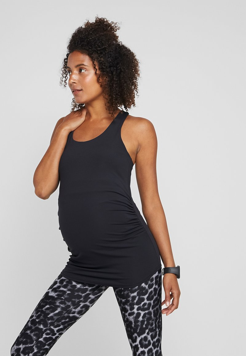 Cotton On Body - MATERNITY FITTED TANK - Top - black