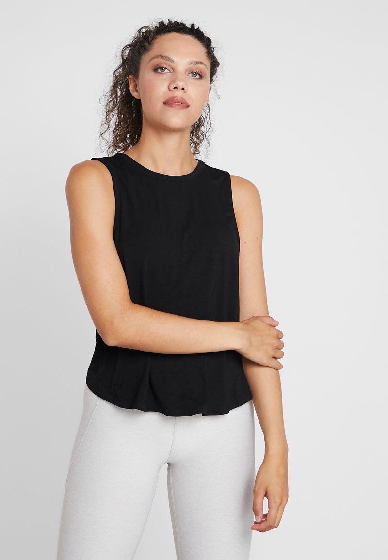 Cotton On Body - OPEN TWIST BACK TANK - Linne - black