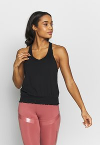 Cotton On Body - RUCHED HEM TANK - Top - black - 0