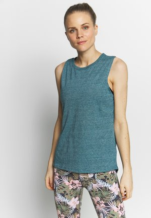 TWIST BACK MUSCLE TANK - Top - mineral teal marl