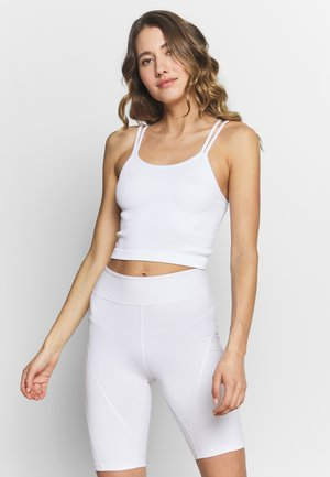 SEAMFREE STRAPPY VESTLETTE - Top - white