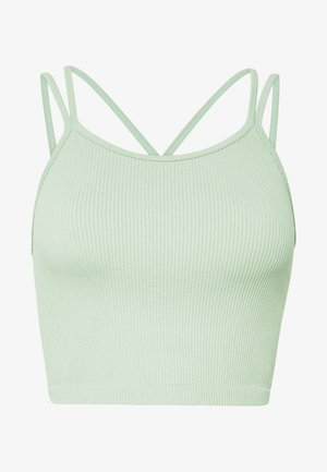 SEAMFREE STRAPPY VESTLETTE - Toppe - washed aloe
