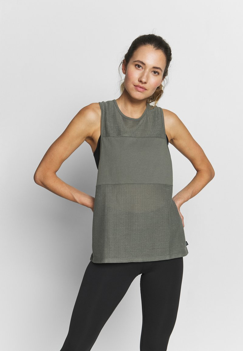 Cotton On Body - MESH TANK - Top - steely shadow