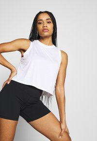 Cotton On Body - ACTIVE ROUCHED MUSCLE TANK - Top - white - 3