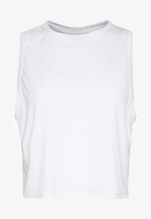 ACTIVE ROUCHED MUSCLE TANK - Top - white