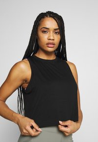 Cotton On Body - ACTIVE ROUCHED MUSCLE TANK - Topper - black - 0