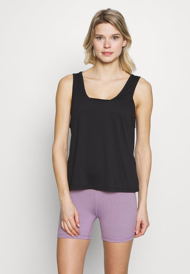 TWIST BACK TANK - Top - black