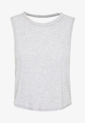 CROSS BACK TANK - Toppi - grey marle