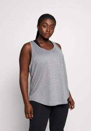 CURVE TRAINING TANK - Top - mottled grey